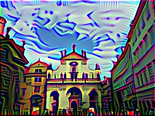 Same Prague building but using DeepDreams with VGG16 conv3_1